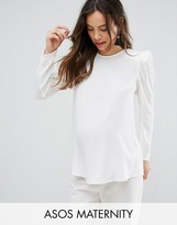 Asos Blouse with Exaggerated Sleeve