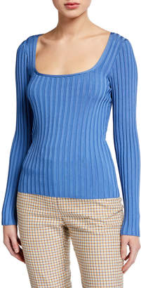 Veronica Beard Clara Scoop-Neck Sweater
