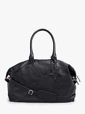 Hush Gabby Weekend Leather Bag, Black