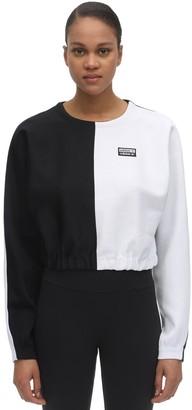 adidas Cropped Two Tone Sweatshirt