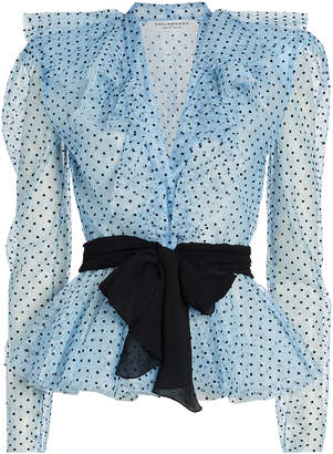 Philosophy di Lorenzo Serafini Frilled Polka Dot Lace Blouse