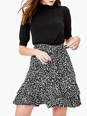 Oasis 2-In-1 Skater Dress, Black/Multi