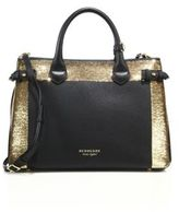 Burberry Banner Medium Leather, Sequin & House Check Satchel