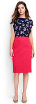 Lands' End Women's Woven Pencil Skirt-Deep Sea Floral