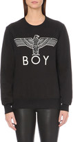 Boy London Eagle-appliqué cotton-jersey sweatshirt