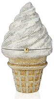 Judith Leiber Couture Ice Cream Cone Crystal Clutch Bag, Silver