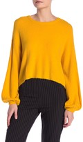Dress Forum Crew Neck Balloon Sleeve Sweater