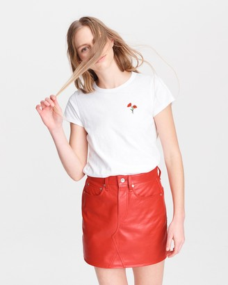 Rag & Bone Poppy flower cotton tee