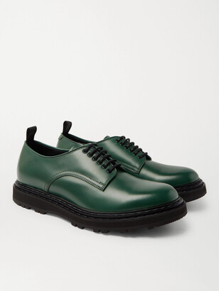 Officine Creative Lyndon Leather Derby Shoes - Men - Green