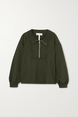 Apiece Apart Jag Organic Cotton-jersey Sweatshirt - Army green