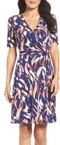 Ellen Tracy Women's Jersey Faux Wrap Dress