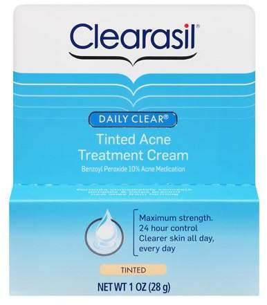 Clearasil Daily Clear Acne Treatment Cream, 10% Benzoyl Peroxide Medication Tinted