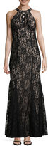 R & M Richards Sleeveless Evening Gown-Tall