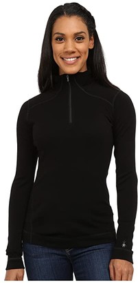 Smartwool NTS Mid 250 Baselayer Zip Top (Black) Women's Long Sleeve Pullover