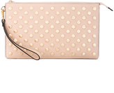 MICHAEL Michael Kors studded clutch - women - Leather/Cupro/metal - One Size