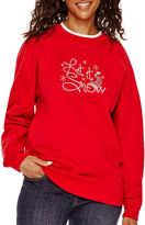 MAC AND BELLE BY MCCC SPORTSWEAR MCCC Sportswear Long-Sleeve Let It Snow Holiday Fleece Sweater
