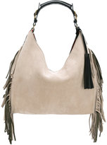 Santoni fringed shoulder bag - women - Suede - One Size