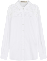 Burberry Cotton Shirt with Lace