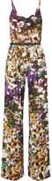 Max Mara Floral-print Silk Jumpsuit - Purple