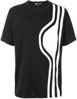 Y-3 shoulder stripe T-shirt