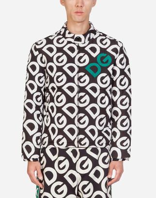 Dolce & Gabbana Padded Nylon Jacket With Logo Print