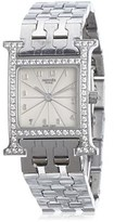 Hermes Pre-owned: Diamond Heure H Pm Watch.