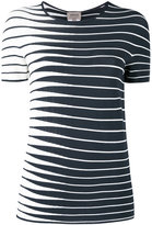 Armani Collezioni striped knitted top - women - Polyester/Viscose - 46