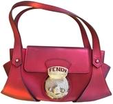 Fendi Burgundy Leather Handbag