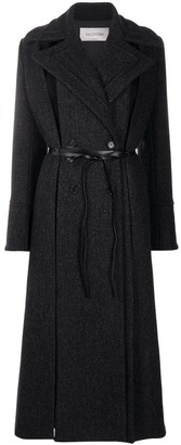 Valentino Belted Double-Breasted Coat