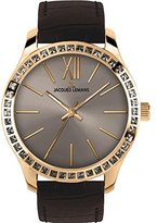 Jacques Lemans Rome 1-1841P 37mm Ion Plated Stainless Steel Case Black Calfskin Mineral Women's Watch