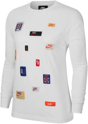 Nike Logo Patch Cotton Top