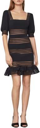 BCBGMAXAZRIA Puff-Sleeve Mini Dress