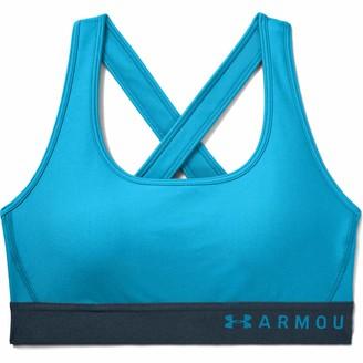 Under Armour Women's HeatGear Mid Impact Crossback Sports Bra-1307200 Bra