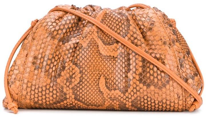 Bottega Veneta The Pouch python clutch bag