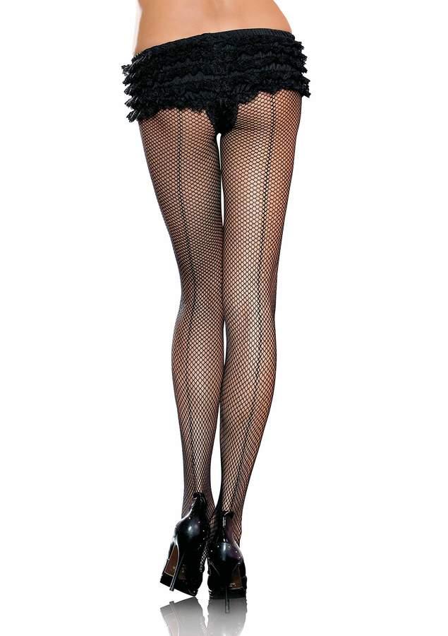 Leg Avenue Women's Plus Size Back Seam Fishnet Pantyhose