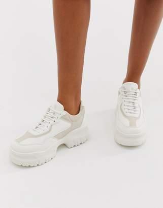 Asos Design DESIGN Dart chunky sneakers-White