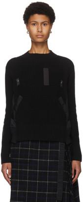 Sacai Black Knit Sweater