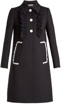Miu Miu Lace-trimmed twill coat