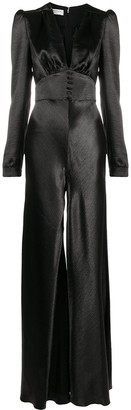 Philosophy di Lorenzo Serafini flared-leg V-neck jumpsuit