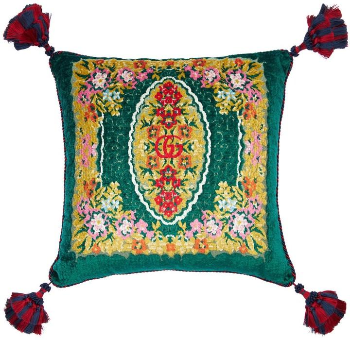 Gucci Flower Velvet Jacquard Pillow