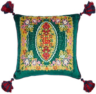 Gucci Flower Velvet Jacquard Pillow