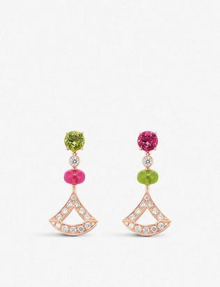 Bvlgari Divas Dream 18ct rose-gold and diamond earrings