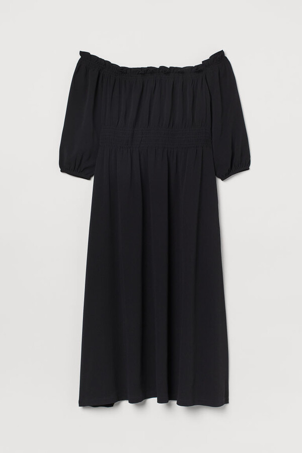 Thumbnail for your product : H&M H&M+ Off-the-shoulder Dress - Black