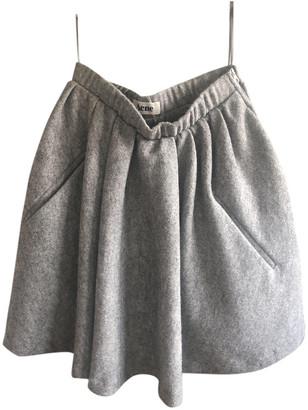 Acne Studios Grey Wool Skirts