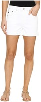 AG Adriano Goldschmied Hailey Boyfriend Shorts in White Women's Shorts
