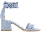 Gianvito Rossi Kiki Denim Ankle-Strap Sandals