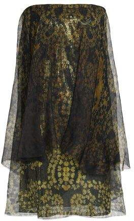 Lanvin Sequined Printed Silk-Chiffon Mini Dress