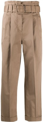 Brunello Cucinelli Cropped Pleated Trousers