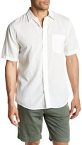 Faherty Short Sleeve Regular Fit Woven Shirt