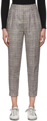 Isabel Marant Yellow and Grey Check Cayo Trousers